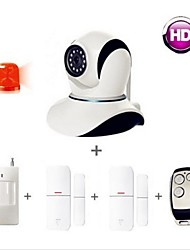 smart home alarmsystemen security kit, ip camera draadloze / afstandsbediening / PIR-sensor / deur sensor