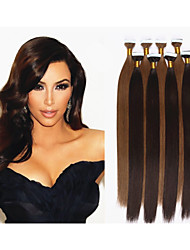 1pc/lot Brazilian Virgin Human Tape Hair Extensions 2.5g/pc,40pcs/pack Tape Hair Skin Weft Human Hair Extensions
