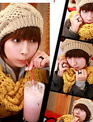 Women Wool Blend Twistedwire Globular Knitted Hats