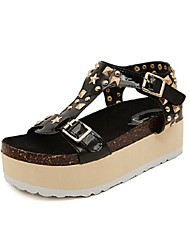 Women's Shoes Platform Platform/Open Toe Sandals Casual Black/Silver