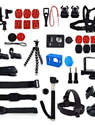 ourspop kit gp-k13-38-em uma acessórios para GoPro Hero 4 hero3 + câmera hero3