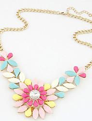 YDN Popular Hot Selling Luxury Gem Crystal Flower Necklace