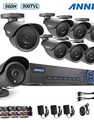 annke® 960H 8ch ecloud dvr hdmi 1080p / vga / 8pcs salida BNC 900tvl 42leds CMOS cámaras día / noche IR-CUT ip66