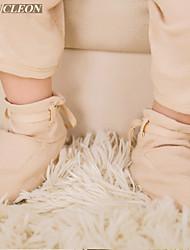 scarpe di cura del bambino del cotone organico per 0-3 mesi i bambini ja2008