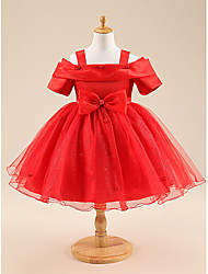 BOW GIRL DRESS PAGEANT WEDDING BRIDESMAID DANCE PARTY DRESS