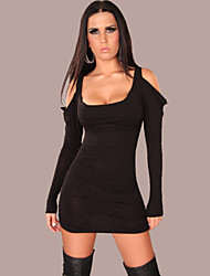 Women's Sexy/Party Stretchy Sleeveless Above Knee Dress (Polyester)