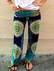 Women's Vintage Casual Print Long Pants