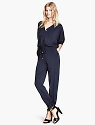 Women's American Apparel Long Sleeve Loose Jumpsuits