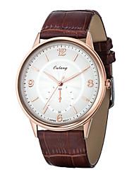 Men's Watch Japan Original Movement Ultra-thin Dial Design Genuine Leather Strap Luxury Brand Watches