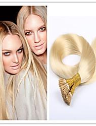 3pcs / lot 1 g / s 100g / pc geraden Stock Haar / i Spitze Fusion Haarverlängerung Jungfrau vor-verbundenes Haar Keratin Kapsel auf Lager