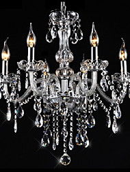 Putian@Chandeliers 6 Lights Silver Vintage  in Crystal Feature