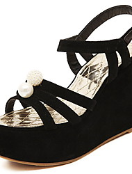 Women's Shoes Wedge Heel Wedges Sandals Casual Black