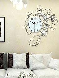 Relógio de parede - Moderno/Contemporâneo - Redonda/Inovador - DE Metal/Poliresina