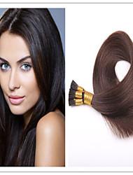 brasilianisches reines gerade Keratin Fusion Haarverlängerung Haar-Stick / i Spitze vor-verbundenes Haar 1g / s 100g / pc 1pc / lot auf