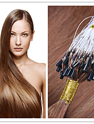 "18""-28"" Micro Ring Hair/Loop Hair Extension Virgin  Hair Keratin Fusion Capsule Hair 300G/Lot 1G/S 100G/PC In Stock"