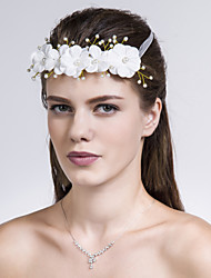 Women Fabric Flowers With Imitation Pearl Wedding/Party Headpiece
