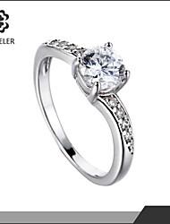 Maxi anel Moda Zircão Zircônia Cubica Pedaço de Platina 18K ouro Imitações de Diamante Jóias Para Casamento Festa 1peça