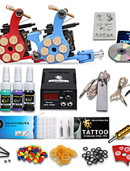 dragonhawk® complets kit de tatouage 2 machines encres 4 couleurs