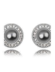 Women's Fashion Playful Princess Pearl Alloy Stud Earrings