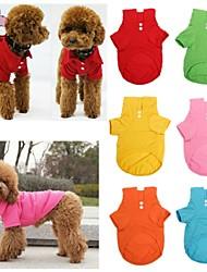 T-shirt - di Cotone - Rosso/Verde/Blu/Rosa/Giallo/Arancione - Matrimonio/Cosplay