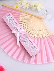 Luxurious Silk Fold hand Fan in Elegant Laser-Cut Gift Box Party Favors/wedding Gifts