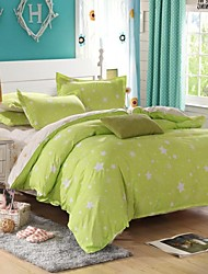 stelle verdi Bedding Set 4 pezzi queen / singoli