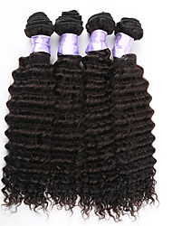 3pcs/lot Brazilian Deep Wave Bundles Human Hair Weaves 100g/pc Tangle Free Human Hair Extension
