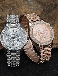 contena genève lunette sertie de diamants femmes montre à quartz avec une bande décorative affichage de la date sous-cadrans en acier