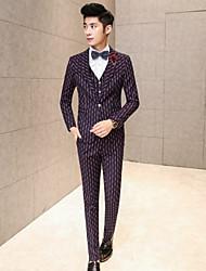 Men's Long Sleeve Regular Set , Cotton/Polyester Striped/Pure size M ,L,XL,XXL