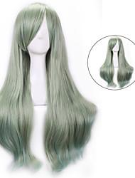 pelucas sintéticas sexy oscuro verdes flequillo lolita harajuku pelucas de cabello ombre pelucas cosplay de anime barato femme fiesta de