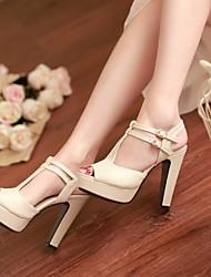 Women's Shoes  Stiletto Heel Peep Toe/Platform Sandals Office & Career/Dress Black/Yellow/Pink