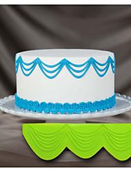 decoração do bolo de molde de silicone bolo 3d stencil cordas queda tripla stencils 3d para a decoração do bolo e arte artesanato