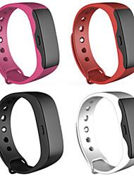 Bluetooth 4.0 multifuncional execução pedômetro / calorias pulseira inteligente de monitoramento de temperatura tempo de sono
