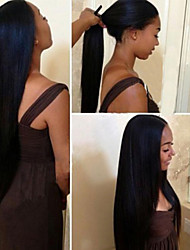 Unprocessed Brazilian Virgin Hair Straight Glueless Lace Front Human Hair Wigs & Lace Front Wig 120% Density