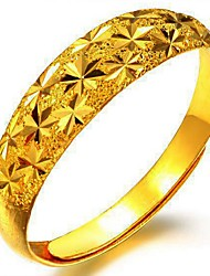 24K plated gold star ring
