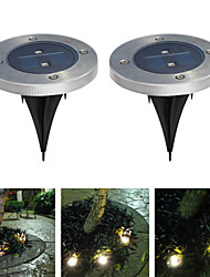 Pack of 2 Solar Ground Light for Garden Landscape Lighting Pathway Stairway