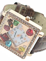 Women's Watch Fashion Diamante Luxury Square Dial