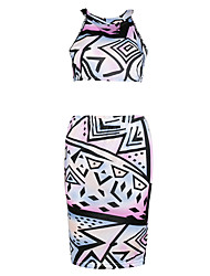 Fashion Women's Decorative pattern  Casual/Party Tight Dress
