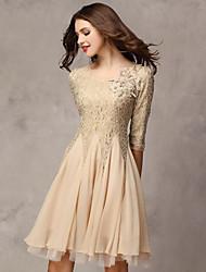Women's Dresses , Chiffon/Cotton Sexy/Casual/Work ¾ Sleeve K.M.S