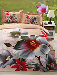 Multi Color Polyester Poly Cotton King Duvet Cover Sets