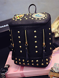 Fashion rivet backpack ladies cosmetic bags