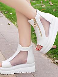 Sakura  Women's Shoes Black/White Wedge Heel 3-6cm Sandals