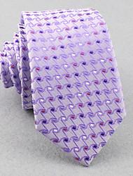 Corbatas ( Rosa/Morado Claro , Poliéster )- Modelo/Cuadrícula/Free Form