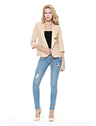 Women's Casual/Work ¾ Sleeve Short Blazer (Polyester)