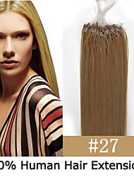 3 Satz 26 Zoll remy Mikroring / Schleifenhaar 0,5 g / s Echthaar Extensions 9 Farben für Frauen Schönheit