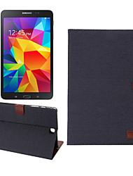 Denim-Stoff-Lederkasten mit Halter&Kartensteckplätze&Brieftasche für Galaxy Tab 9.7 a / T550