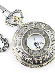 Men's Twelve constellation Alloy Analog Quartz Pocket Watch Cool Watch Unique Watch