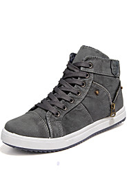 Men's Spring Summer Fall Winter Comfort Canvas Outdoor Office & Career Casual Lace-up Blue Gray
