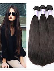 """3pcs / lot 8 """"-34"""" capelli diritti brasiliani vergini trame nera naturale 1b # economici vergini dei capelli umani del tessuto fasci"""