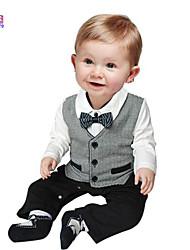 Waboats Fall Kids Baby Boy Gentleman Cotton Vest Romper
